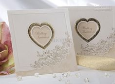Cheap Wedding Invitations - Discount Sweet Love Ivory Wedding Invitations Wedding Cards Personalized Online with $1.48/Piece | DHgate