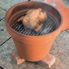 DIY Outdoor Cooker: How to Build a Clay-Pot Smoker - DIY - MOTHER EARTH NEWS