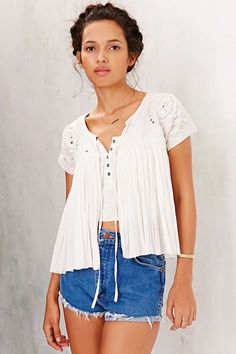 Raga Embellished Open-Front Short-Sleeve Jacket - Urban Outfitters