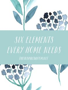 6 Elements Every Home Needs - The Inspired Room Decorating Tips, Decorating Your Home, Room Inspiration, Design Inspiration, New Homeowner, Home Hacks, Home Staging, Home And Living, Living Room