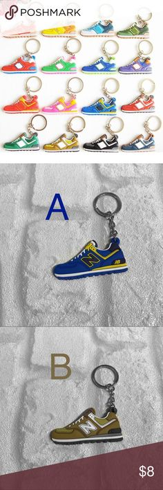 NEW New Balance Sneaker Silicone Keychain ▪️Listing is for 1 , please select letter below   ▪️Bundle multiple for private offer    ▪️Same or Next Business Day Shipping ! Accessories Key & Card Holders