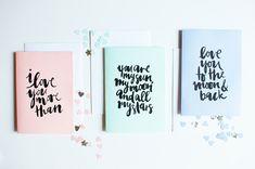 Lovely valentine cards printables via a pair & a spare #valentinesday