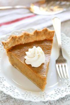 An easy recipe for Homemade Pumpkin Pie. This pumpkin pie recipe is perfect for the holidays!