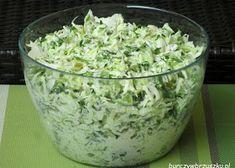 Surówka krymska - Burczy w brzuszku Appetizer Salads, Appetizers, Bruschetta, Polish Recipes, Tzatziki, Side Salad, Coleslaw, Kraut, Salad Dressing