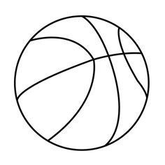 Printable basketball drawing. | Fun | Pinterest | Cricut, Template ...