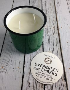 Evergreen and Embers Alpine 9.5oz Enamelware Candle