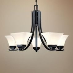 """Agilis Collection 27"""" Wide Brushed Nickel Chandelier"""