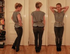 Easy shirt tutorial - I like it belted