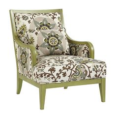 Viceroy Chair in Fiona Suzani with Apple Green finish