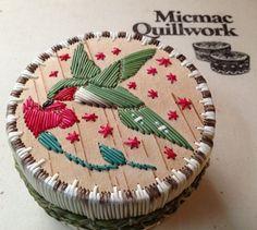 My hummingbird quill basket I made.