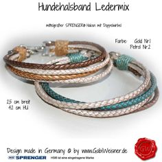 <p>Hundehalsband Ledermix metallic geflochten via Hundehalsband Ledermix metallic geflochten.</p>