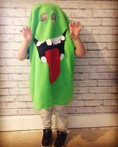 Ghostbusters Slimer kids fancy dress costume for Halloween                                                                                                                                                                                 More