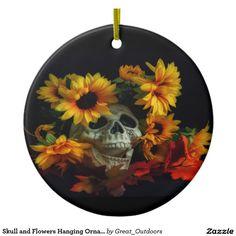 Skull and Flowers Halloween Postcard Halloween Blanket, Hanging Ornaments, Paper Plates, Dark Art, Paper Flowers, Biodegradable Products, Fine Art America, Halloween Decorations, Skull