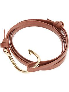 Miansai Hook Bracelet - for Men Anchor Rope, Hook Bracelet, Nautical Fashion, Bracelets For Men, Jewelry Accessories, Bangles, Silver, Gold, Leather