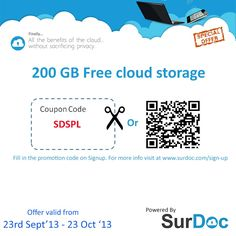 #surdoc- 200GB Ultra-secure Free storage. Grab the offer before it is too late. Get it now- https://www.surdoc.com/sign-up/?promo=SDSPL