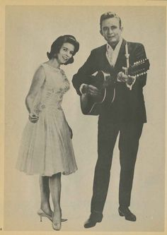 "Cash and June Carter, undated image. Source: ""Johnny Cash, His Life Story,"" by David Ragan."