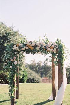 outdoor wedding ceremony idea; Photo: Carmen Santorelli