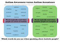 Amazing Adventures: Download infographic Autism Awareness versus Autism Acceptance