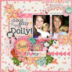 Layout using {Miss Dolly} Digital Scrapbook Collection by Digilicious Design available at Sweet Shoppe Designs http://www.sweetshoppedesigns.com/sweetshoppe/product.php?productid=30179&cat=0&page=8 #digiscrap #digitalscrapbooking #digiliciousdesign