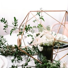 Sphere Table Centerpiece - Geometric Spheres - Wedding or Special Events - Brass/Gold, Silver, copper/rose gold, black Geometric centerpiece. Wedding Table Centres, Wedding Table Centerpieces, Wedding Decorations, Top Wedding Trends, Wedding Ideas, Wedding Wows, Modern Minimalist Wedding, Copper Rose, Rose Gold