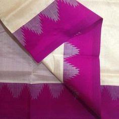 SC4300011-VARNAM Handwoven Silkcotton-Korvai-Zariless-cream violet, 750g