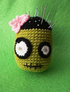 My Zombie Pincushion by GirlOfTheOcean.deviantart.com on @deviantART