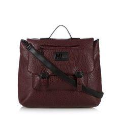 H! by Henry Holland Designer maroon pebble grain satchel bag- at Debenhams.com
