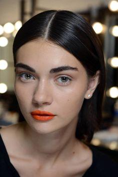 Finally, some hot lips! The makeup trend at Tanya Taylor was courtesy of NARS Playa Dorado Velvet Lip Liner and NARS Timanfaya Satin Lip Pencil. We're shopping them now.   -Cosmopolitan.co.uk