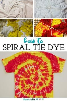 How to Spiral Tie Dye