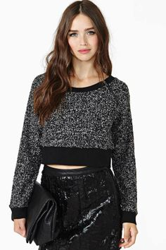 Nasty Gal Faction Crop Sweater