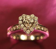Heart Engagement Ring   #wedding ring ... Wedding ideas for brides, grooms, parents & planners ... https://itunes.apple.com/us/app/the-gold-wedding-planner/id498112599?ls=1=8 … plus how to organise an entire wedding, without overspending ♥ The Gold Wedding Planner iPhone App ♥