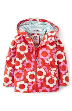 Mini Boden Jersey Lined Hooded Anorak (Toddler Girls, Little Girls & Big Girls) available at #Nordstrom