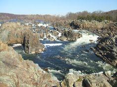 The waterfalls at Great Falls VA