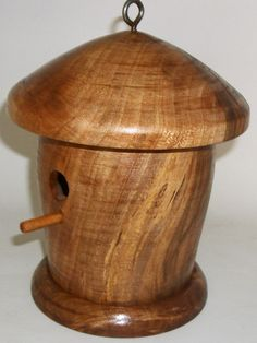 Custom made birdhouse made by Keith on a wood lathe. www.keithgracely.com
