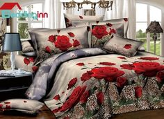 Red Roses with Leopard Background Print 3D Duvet Cover Sets  Buy link>>>http://urlend.com/UNNZvai Live a better life, start with Beddinginn http://www.beddinginn.com/product/Fancy-Red-Roses-With-Leopard-Background-Print-3d-Duvet-Cover-Sets-10950471.html