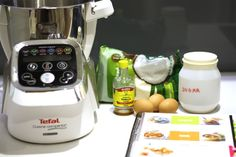 Ingredients to make Coconut Rochers (coconut macaroons) - congolais, made with Tefal Cuisine Companion