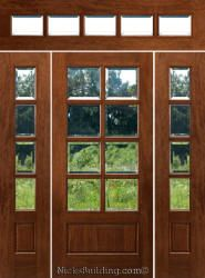 Solid Mahogany Wood Doors With Sidelights And Rectangular Transoms. Prehung Entry  Doors With Rectangular Transom Window Design In Many Glass Styles.