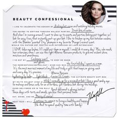 Katie Holmes' holiday beauty confessional - read more on the Glossy! #Sephora #Giftopia