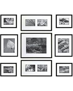 Gallery Perfect Hang Your Own Gallery 9-Piece Frame Set, Black