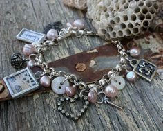 Buttons on a charm bracelet...I have one or two antique turtle shell buttons that I treasure...Yes!