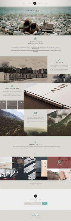 A Walker - Architecture & Design Portfolio Brand by Justin Coetzee, via Behance: