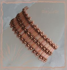 Love this color!!!! Tillia bracelet scheme (from Ewa): http://ewagyongyosvilaga.blogspot.fr/2012/06/tillia-karkoto-tillia-bracelet.html