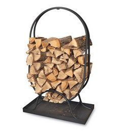Firewood Rack, Oval Log Rack - Plow & Hearth
