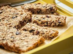 """Perfect for breakfast on the go or a quick snack, these moist and chewy granola bars can be customized with any combination of nuts, seeds and dried fruit. <a href=""""https://www.youtube.com/watch?v=WAgLUh2mf4Y&index=7&list=PLDFmQ1Ea1sUUSl8BaxGtK9NByJnVdwt01%20"""">Watch our how-to video</a>."""
