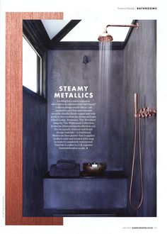 Looking for a more romantic alternative to stainless steel and brass? Check out the 'Brooklyn' range by The Watermark Collection.  http://www.thewatermarkcollection.eu/ Elle Decoration May 2017