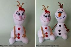 I actually found something that has to do with olaf that I don't like!Olaf no Ms. Kids Crafts, Sock Crafts, Felt Crafts, Craft Projects, Felt Projects, Olaf Snowman, Sock Snowman, Snowman Crafts, Olaf Frozen