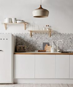 Achieve Scandinavian style with this unique tile design.