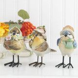 """4"""" high; these birds are made of resin and are as cute as can be"""
