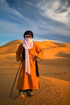 Camel Driver in the Sahara Desert