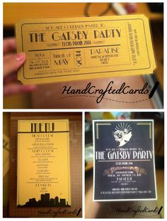Okay here is the second part of The Great Gatsby High School Prom Order! I'm almost done, just have to finish up printing and cutting these prom invitation tickets. Because this is a private ...